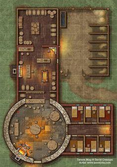 Tavern Map by jasonjuta