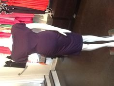 Cinched Rosie Pope Dress in Plum