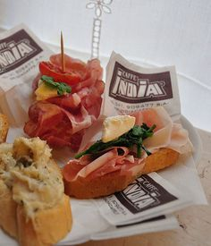 Cicheti/cicchetti - little bites from the best bacari bars in Venice, Italy