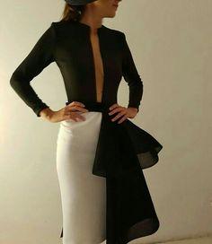 Querido robertodiz, voy a morir de un ataque de amor con tus diseños! Elegant Outfit, Elegant Dresses, Classy Outfits, Beautiful Outfits, Chic Dress, Dress Up, Style Feminin, Tango Dress, European Fashion