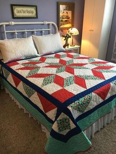 I'm keen on this glorious patchwork quilts Big Block Quilts, Star Quilt Blocks, Star Quilts, Easy Quilts, Scrappy Quilts, Colchas Quilting, Vintage Star, Queen Size Quilt, Star Quilt Patterns