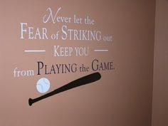 i have a feeling this will be in my sons room one day, thanks to a daddy who comes from a crazy baseball family :)