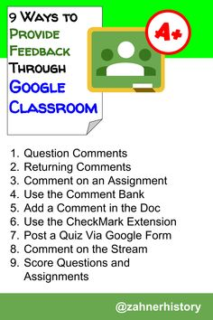 Google Classroom offers several options for providing feedback on student work. This article explores some of the ways to grade student work and what happens in each of the features for providing feedback. Instructional Strategies, Teaching Strategies, Feedback For Students, Google Classroom, Student Work, Google Drive, Cloud, Teacher, Technology