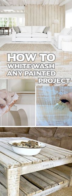 How To White Wash Any Painted Project
