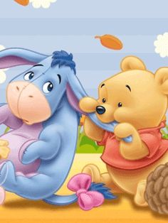 Winnie-the-Pooh & Eeyore Pooh Baby, Tigger And Pooh, Cute Winnie The Pooh, Winne The Pooh, Winnie The Pooh Quotes, Winnie The Pooh Friends, Eeyore Pictures, Winnie The Pooh Pictures, Disney Babys