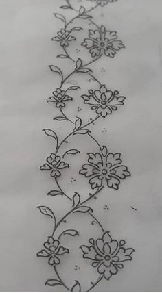 Hand Embroidery Design Patterns, Hand Embroidery Videos, Blackwork Embroidery, Embroidery Flowers Pattern, Hand Work Embroidery, Machine Embroidery Projects, Hand Embroidery Stitches, Floral Embroidery, Couture Embroidery