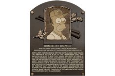 Homer Simpson Gets Inducted Into the Baseball Hall of Fame