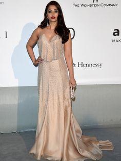 Aishwarya Rai  A atriz indiana usou vestido Armani Privé. Getty Images - AFP / Agência