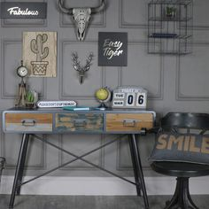 Part of our funky Chicago Range, the 3 drawer console table adds plenty of character and helps to create a unique look in your home. #interiordesign #interiordecor #boho #homedecor #homeinspiration #interiorinspiration #rustic #rusticdecor #rusticinterior #industrialinterior #scandinaviandesign #vintage #vintagestyle #myhome #retro #shabbychic #vintagehome #vintage #french #seating #myinterior #decor #instahome