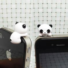 35OFF Cute White Black Hanging Panda Dust Plug 3.5mm by Polaris798, $3.98