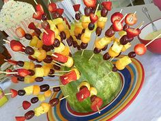 watermelon/fruit kabobs....breakfast bar..mornin after