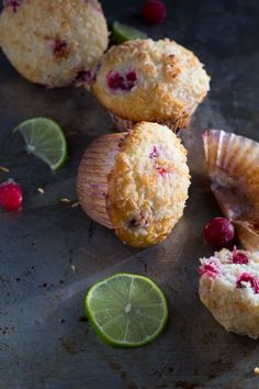 Cranberry, Lime & Coconut Muffins   sweetpeasandsaffron.com @sweetpeasaffron