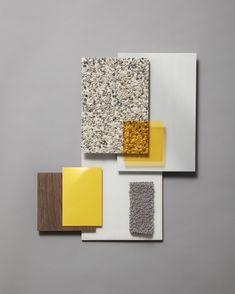 Rough Wood, Dark Wood, Texture Board, Long Bench, Led Tubes, Design Language, Display Shelves, Wood Veneer, Colors