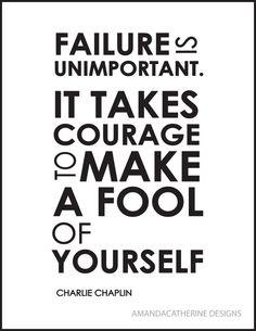 Failure is unimportant . . .