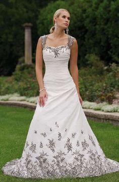 black and white wedding dress: BEAUTIFUL! | Black and White ...