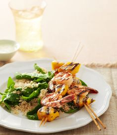 Shrimp and Mango Skewers