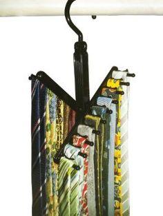 Chrome//Black Honey-Can-Do HNGT01205 2 Pack Non-Slip Accessory Hanger