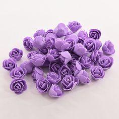 50 PCS Mini PE Foam Rose Bunga Buatan Untuk Pernikahan Dekorasi Mobil DIY Pompom Karangan Bunga Dekorasi hari valentine Palsu bunga