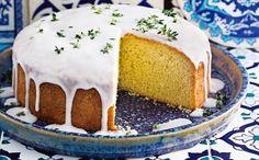 cake met olijfolie en citroenglazuur