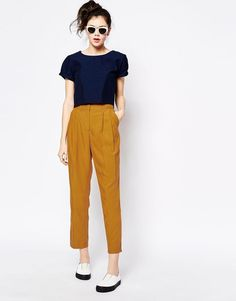 Image 1 of Monki Tailored Peg Trouser