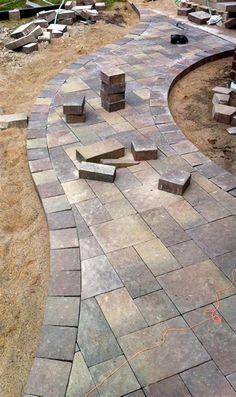 Backyard Patio Designs - Amazing 45 Most Popular Backyard Paver Patio Design Ideas 2019 Garden Pavers, Cement Patio, Outdoor Pavers, Concrete Pavers, Backyard Patio Designs, Backyard Landscaping, Patio Ideas, Pavers Ideas, Landscaping Ideas