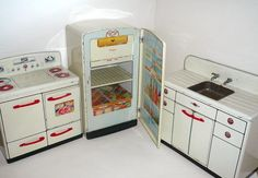 toy kitchen set - I had this set.  The sink had running water!