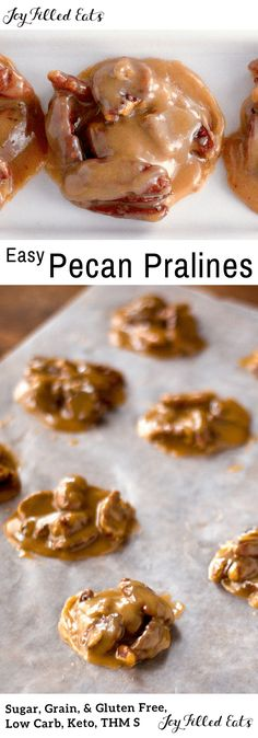 My Creamy Pecan Pralines will make you dream of New Orleans. They are low carb, sugar free, gluten free, grain free, & a THM S. Creamy Pecan Pralines Recipe - Keto candy. Only 1 carb per piece!