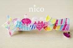 candy*colorバレッタ[Lサイズ-E]