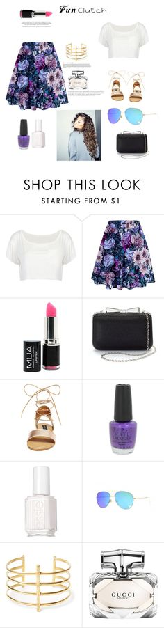 """Fun Clutch"" by bearteddyblitz on Polyvore featuring La Regale, Steve Madden, OPI, Essie, BauXo, Coleman, Gucci and Anja"