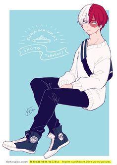 My Hero Academia: The Manga My Hero Academia Shouto, My Hero Academia Episodes, Hero Academia Characters, Anime Characters, Kawaii, Ken Tokyo Ghoul, Anime Lindo, Fanarts Anime, Cute Anime Guys