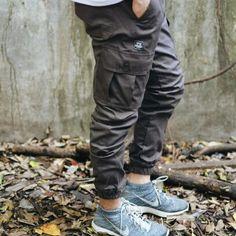 Dark Grey cargo jogger pants from @TeesGoods . #teesgoods