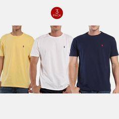 3 Pack: Polo by Ralph Lauren Mens Pony Logo Classic Fit T-Shirts - $37.99. https://www.tanga.com/deals/6c4f2911dc24/3-pack-polo-by-ralph-lauren-mens-pony-logo-classic-fit-t-shirts