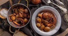 Χταπόδι στιφάδο | Συνταγή | Argiro.gr Beans, Vegetables, Recipes, Food, Recipies, Essen, Vegetable Recipes, Meals, Ripped Recipes