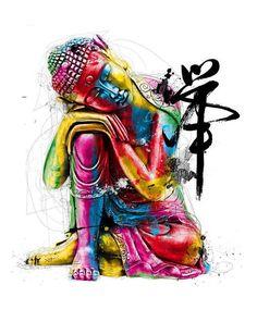 A3 Poster - Colourful Buddha (Picture Buddhism Buddhist Monk Mandala Religion)
