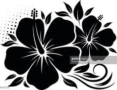 Rose Stencil, Stencil Art, Stencil Designs, Stenciling, Hawaiian Flowers, Hibiscus Flowers, Blue Roses Wallpaper, Wood Burning Stencils, Printable Shapes