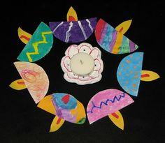 Paper Lamps Garland... ~ Putti's World-kids-activities - Diwali/Deepawali