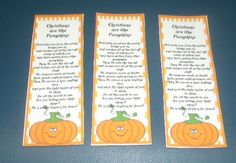 Christian Pumpkin Bookmarks by SweetDee484 on Etsy, $1.00