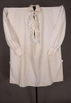 Gent's Fine Linen Shirt, 1800-1825