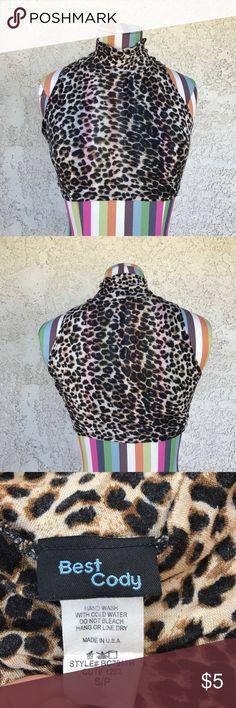 Leopard Print Crop Top Leopard print crop top with turtle neck. Best Cody Tops Crop Tops