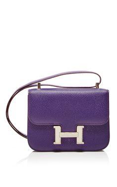 Hermes 15cm Micro Violet Epsom Constance Shoulder Bag