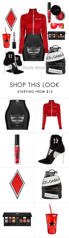 """bloody shoes"" by petrescudenisa on Polyvore featuring Palm Angels, Too Faced Cosmetics, Puma, Henri Bendel, Dolce&Gabbana, Chanel, Concrete Minerals and Anastasia Beverly Hills"