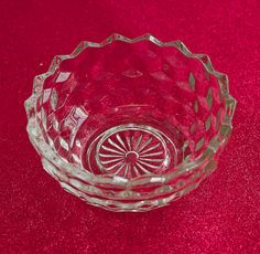 Depression Glass Bowls Jeannette Glass Cube aka Cubist by OllyOxes   #WeddingTableTop #TableTop @Olly Olly Oxen Free