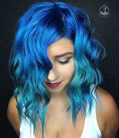 Pulp riot - mermaid bright hair colour & curls