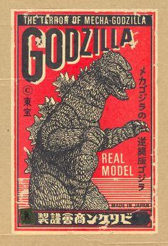 godzilla kaiju vintage poster at DuckDuckGo Godzilla Figures, Godzilla Toys, Les Reptiles, Non Plus Ultra, Japanese Monster, Matchbox Art, Horror Posters, Japanese Film, Vintage Packaging