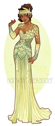 Art Nouveau Costume Designs VII: Tiana by Hannah Alexander  #disneyprincess #disneyprincesspics #disney