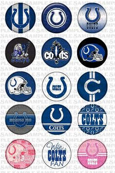 INSTANT DOWNLOAD  Indianapolis Colts themed  1 by APaperlessTrail, $1.50