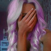 purple and  white hair <3