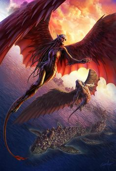 The cover art by Steve Argyle, for The Serpent Sea, the second Books of the Raksura novel.