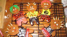 Punk gingerbread man cookies