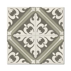 Shop for Kasba Brown and White handmade cement Moroccan tile, 8 Inch X 8 inch floor